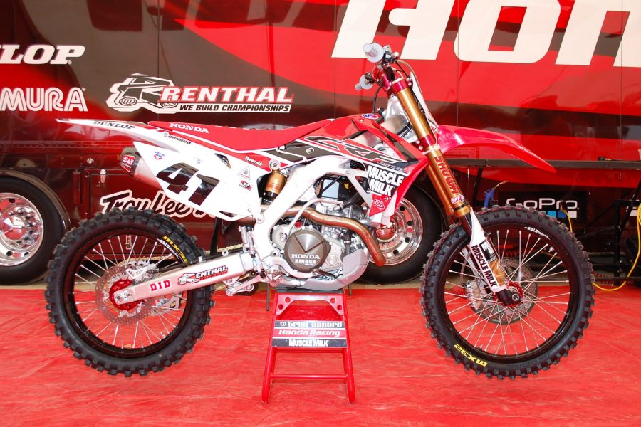 Muscle Milk Honda Red Graphics Kit